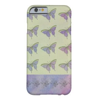 Purpurfärgad nätt stilfull roligt för fjärilar barely there iPhone 6 skal