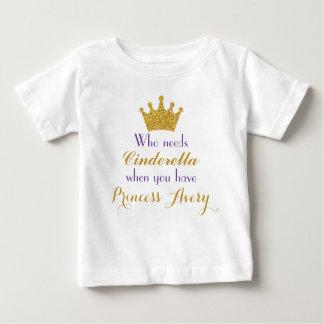 Purpurfärgad och guld- Princess T-tröja för Tee Shirt