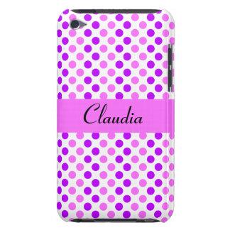 Purpurfärgad och rosa polka dots Case-Mate iPod touch case