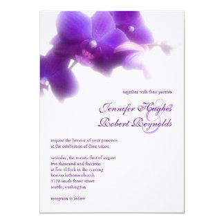Purpurfärgad Orchidbröllopinbjudan 12,7 X 17,8 Cm Inbjudningskort