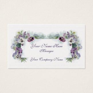 Purpurfärgad pansiesvisitkort för Victorian Visitkort