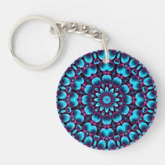 Purpurfärgad pipblåsareakryl Keychains, 6 stilar Dubbelsidigt Rund Akryl Nyckelring