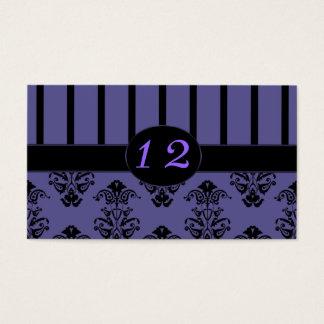 Purpurfärgad plommon & svart randar, visitkort