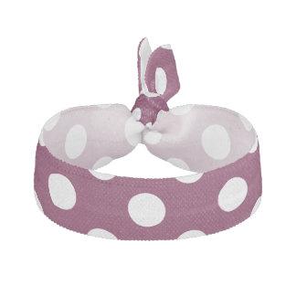 Purpurfärgad polka dots hårband