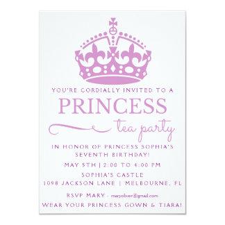 Purpurfärgad Princess Tea Festa Födelsedag 11,4 X 15,9 Cm Inbjudningskort