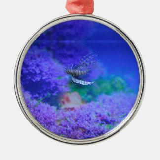 Purpurfärgad Pterois Zebrafish för Julgransprydnad Metall