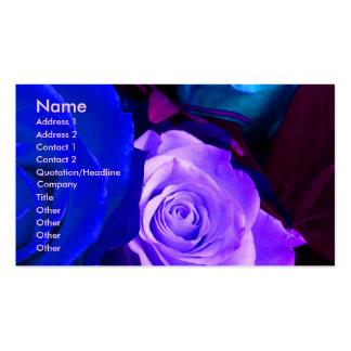 Purpurfärgad rokonstnär för blått mig visitkort