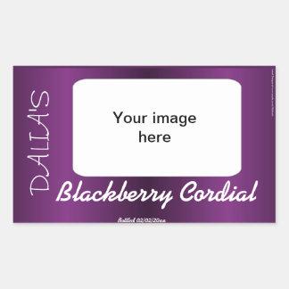 Purpurfärgad satängvinfruktjuice och syltetikett retangel klistermärken