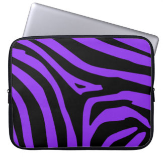 Purpurfärgad sebra laptopskydd fodral