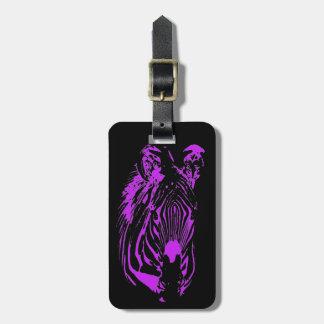 Purpurfärgad sebra (svarten) bagagebricka