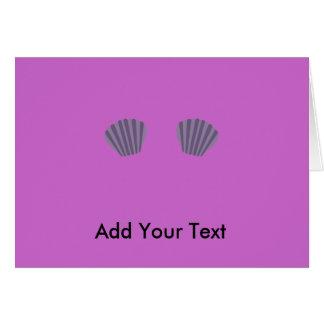 Purpurfärgad sjöjungfrubikini hälsningskort