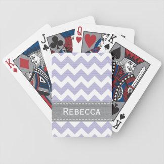 Purpurfärgad sparre Bicycle® som leker kort Spelkort