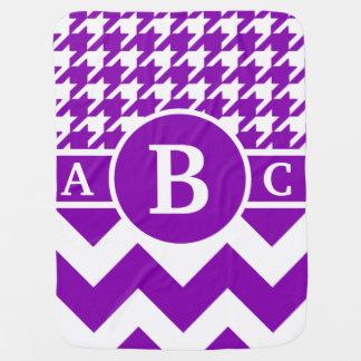 Purpurfärgad sparre Houndstooth för Monogram Bebisfilt
