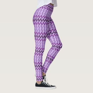 Purpurfärgad sparre leggings