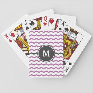 Purpurfärgad sparre spelkort