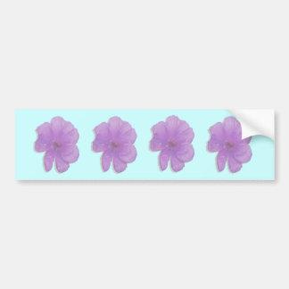 Purpurfärgad stansmaskinPopArt blomma Bildekal