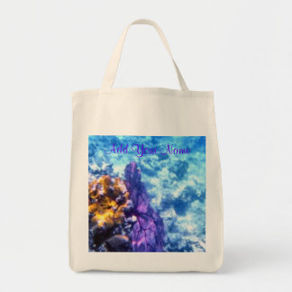Purpurfärgad toto för havsfläktpersonlig tygkasse