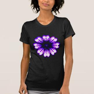 Purpurfärgad transp för daisyblått de MUSEUMZazzle Tröja