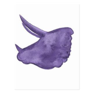 Purpurfärgad TriceratopsSilhouette Vykort