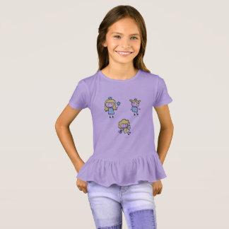 Purpurfärgad tshirt för lavendel med älvor tee