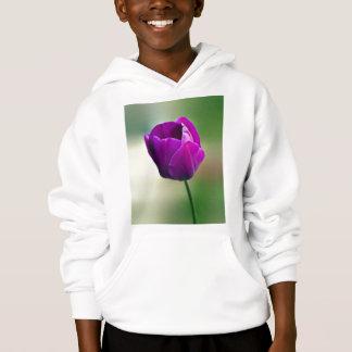 Purpurfärgad tulpan tee shirt