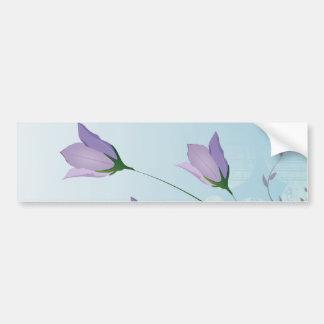 purpurfärgad tulpandesign för elegant lavendel bildekal