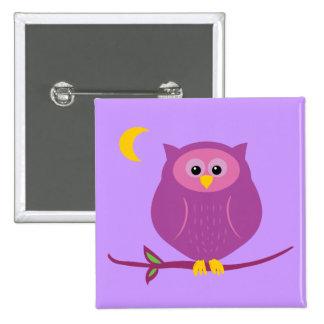Purpurfärgad uggla standard kanpp fyrkantig 5.1 cm