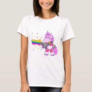 Purpurfärgad Unicorn - vapen T Shirt