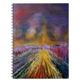 Purpurfärgad väg anteckningsbok