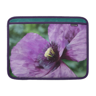 Purpurfärgad vallmo/Violet MacBook Sleeve