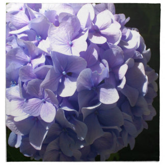 Purpurfärgad vanlig hortensia tygservett