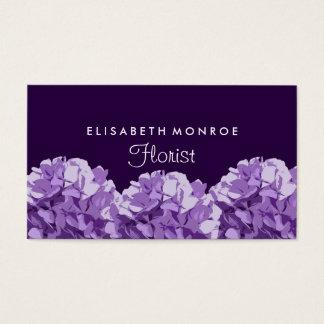 Purpurfärgad vanlig hortensiablommigt, visitkort