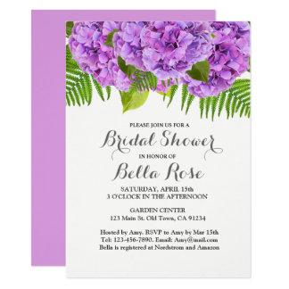 Purpurfärgad vanlig hortensiainbjudningskort för 11,4 x 15,9 cm inbjudningskort