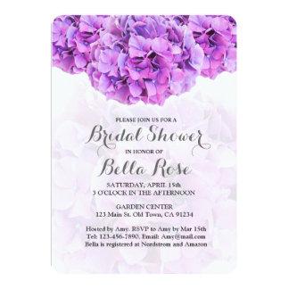 Purpurfärgad vanlig hortensiamöhippainbjudan 12,7 x 17,8 cm inbjudningskort
