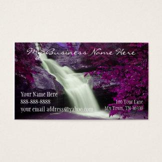 Purpurfärgad vattenfall visitkort