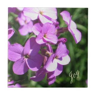 Purpurfärgad Vildblomma-Glädje Kakelplatta