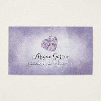 Purpurfärgad visitkort för hjärtaGemstonesmycken