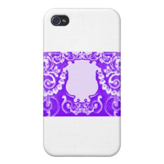 Purpurfärgad vit för platta de MUSEUMZazzle gåvorn iPhone 4 Cover