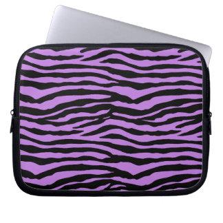 Purpurfärgad zebra ränder laptop datorskydd