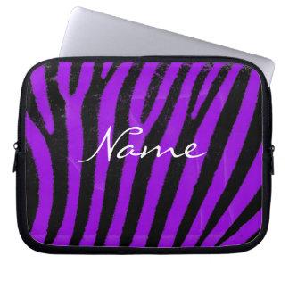 Purpurfärgad zebra ränderNeoprenelaptop sleeve Laptop Datorfodral