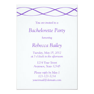 Purpurfärgade Bachelorette eller 12,7 X 17,8 Cm Inbjudningskort