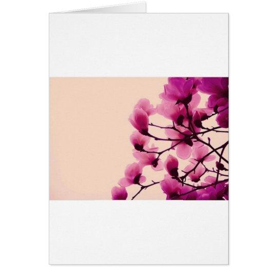 Purpurfärgade blommar hälsningskort
