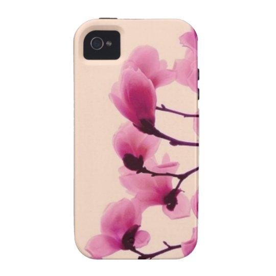 Purpurfärgade blommar iPhone 4 fodral