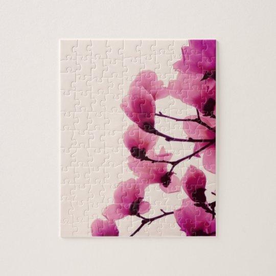 Purpurfärgade blommar pussel