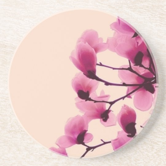 Purpurfärgade blommar underlägg sandsten