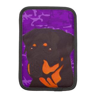 Purpurfärgade Camo med Rottweiler Sleeve För iPad Mini