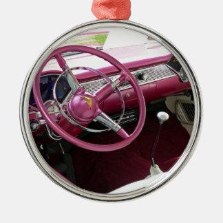 Purpurfärgade Chevy Bel Air Julgransprydnad Metall