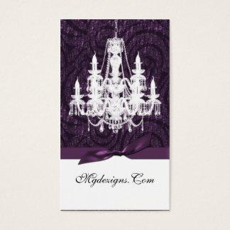 purpurfärgade damastast ljuskronachicvisitkortar visitkort