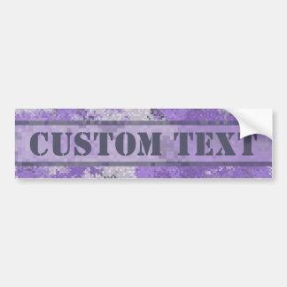 Purpurfärgade Digi Camo med beställnings- text Bildekal