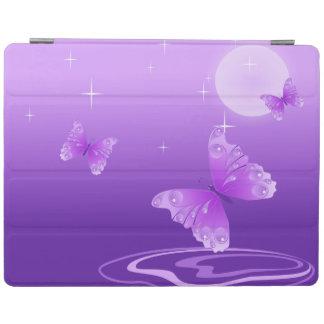 Purpurfärgade fjärilar iPad skydd